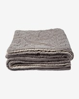 Toast Quilted Velvet Throw