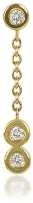 Lena Cohen Fine Jewellery Quaver Drop Diamond Piercing Stud 18K Yellow Gold