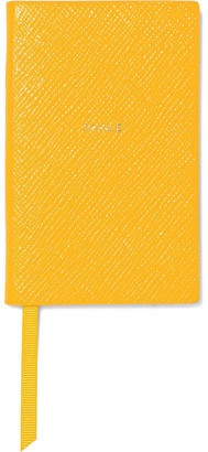 Smythson The Wafer Smile Printed Textured-leather Notebook