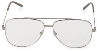 Gucci GG0442O-001 60MM Browline Aviator Optical Glasses