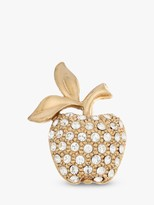Swarovski Eclectica Vintage 22ct Gold Plated Crystal Apple Brooch, Gold