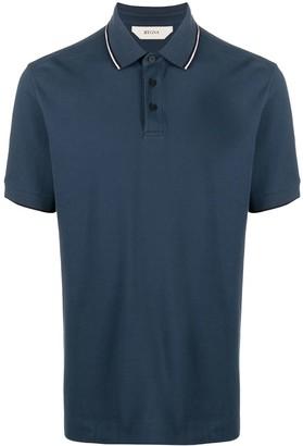 Ermenegildo Zegna Embroidered Logo Polo Shirt
