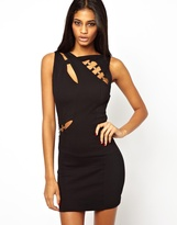 Forever Unique Selfish By Laddered Bodycon Dress