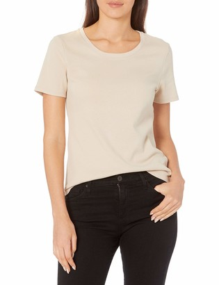 Ruby Rd. Women's Scoop Neck 1 x 1 Rib Knit Cotton Tee