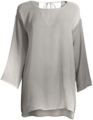 Eileen Fisher Watercolor Silk Tunic