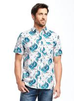 Old Navy Slim-Fit Floral-Print Shirt For Men