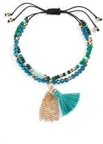 Cara Couture Girl's Beaded Tassel Bracelet