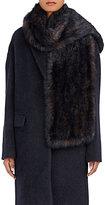 Barneys New York Women's Fur Scarf-BLUE