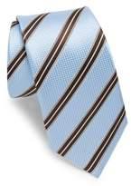 Ike Behar Blue & Brown Stripe Tie