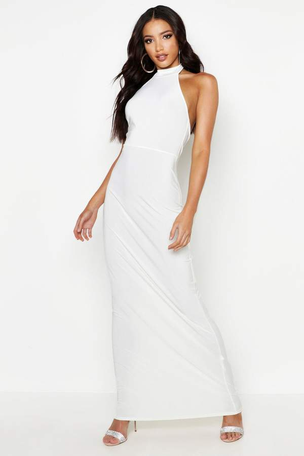 3d20c891659 boohoo White High Neck Dresses - ShopStyle