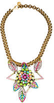 Lulu Frost Crystal Leaf Necklace