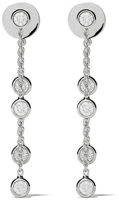 De Beers 18kt white gold My First five diamond earrings