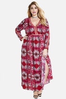 Fashion to Figure Zionne Medallion Print Maxi Dress