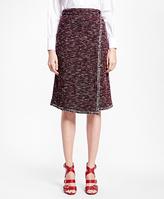 Brooks Brothers Petite Blanket-Stitch Tweed Skirt