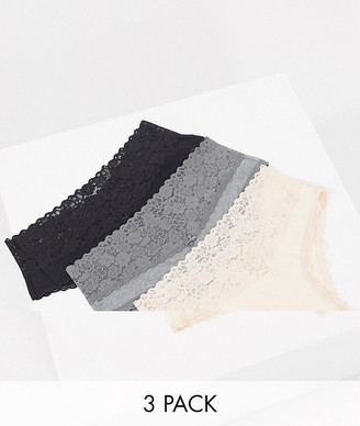 aerie 3 pack lace brief in multi