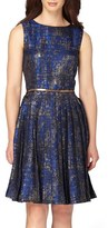 Tahari Petite Women's Jacquard Fit & Flare Dress