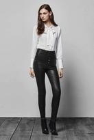 J Brand Natasha Leather Sky High Skinny in Black