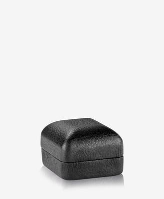 "GiGi New York I Do"" Pebble Grain Leather Ring Box, Black"