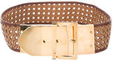 Stella McCartney Raffia Woven Waist Belt
