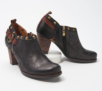Spring Step L'Artiste by Leather Booties- Kacie