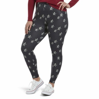 Hue Women's Printed Front Lightweight Knit Leggings