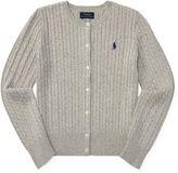 Ralph Lauren 7-16 Cable-Knit Cotton Cardigan