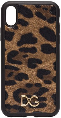 Dolce & Gabbana leopard-print iPhone XR case