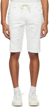 Diesel White D-Krooshort Shorts