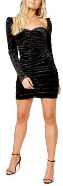 Bardot Darline Ruched Velvet Dress