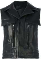 Haider Ackermann leather cropped gilet