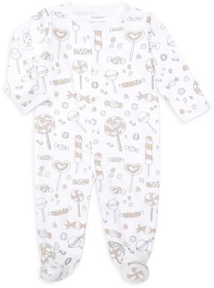 Baby Noomie Baby Girl's Print Pima Cotton Footie