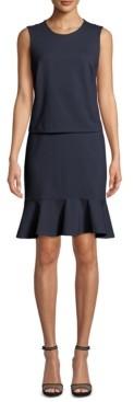 Nicole Miller Ponte-Knit Blouson Dress