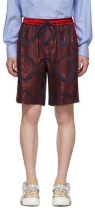 Gucci Red Paisley Bowling Shorts