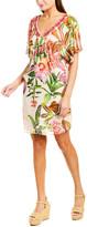 Trina Turk Rainforest Silk Caftan Dress