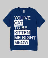 Micro Me Navy 'You've Cat to be Kitten Me' Tee - Infant, Toddler & Boys