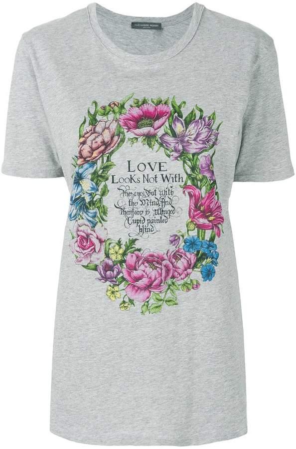 Alexander McQueen tropical wreath T-shirt