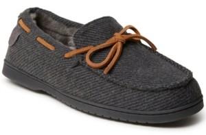 Dearfoams Fireside Men's Grafton Moccasin Lace Tie Slippers Men's Shoes