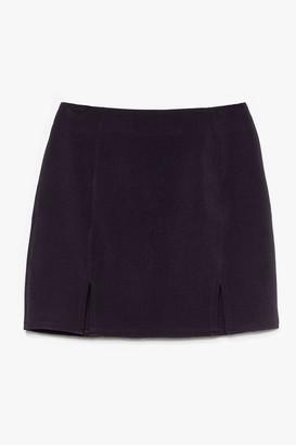 Nasty Gal Womens What's Slit Gonna Be High-Waisted Mini Skirt - Black