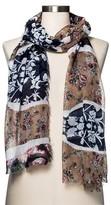 Merona Women's Fashion Scarf Floral Navy/Tan