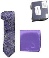 U.S. Polo Assn. Men's Paisley Tie, Pocket Square And Tie Bar Set