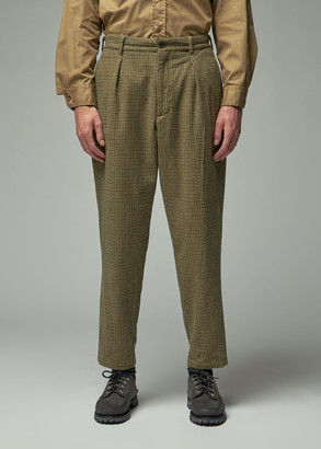 Engineered Garments Men's Carlyle Pant in Tan/Green Size Large Wool/Polyester/Cotton