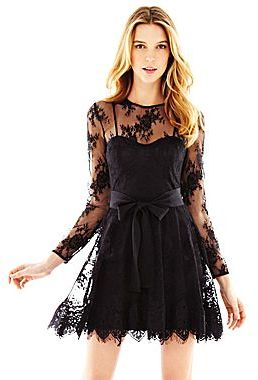 Marchesa Pearl Georgina Chapman of Long-Sleeve Lace Dress