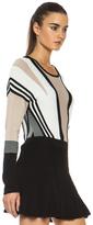 Ohne Titel Suspension Knit Pullover in Buff, Black, & White