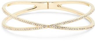 Nordstrom Pave Crisscross Hinged Cuff Bracelet