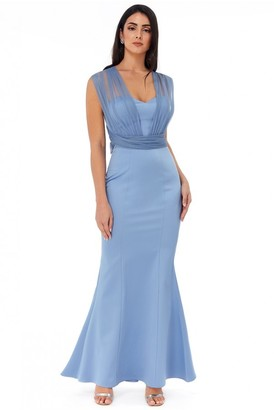 Goddiva Boobtube Multi-tie Maxi Dress - Cornflower