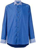 Etro paisley print detail shirt - men - Cotton - 40