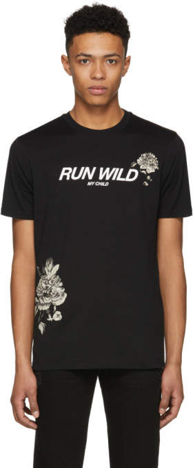 Givenchy Black Run Wild My Child T-Shirt