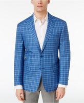 MICHAEL Michael Kors Men's Classic-Fit Blue Plaid Sport Coat