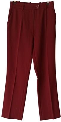 Tara Jarmon Burgundy Trousers for Women