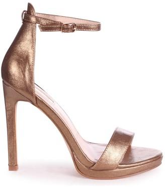 Barely There Linzi GABRIELLA - Old Gold Metallic Stiletto Heel With Slight Platform